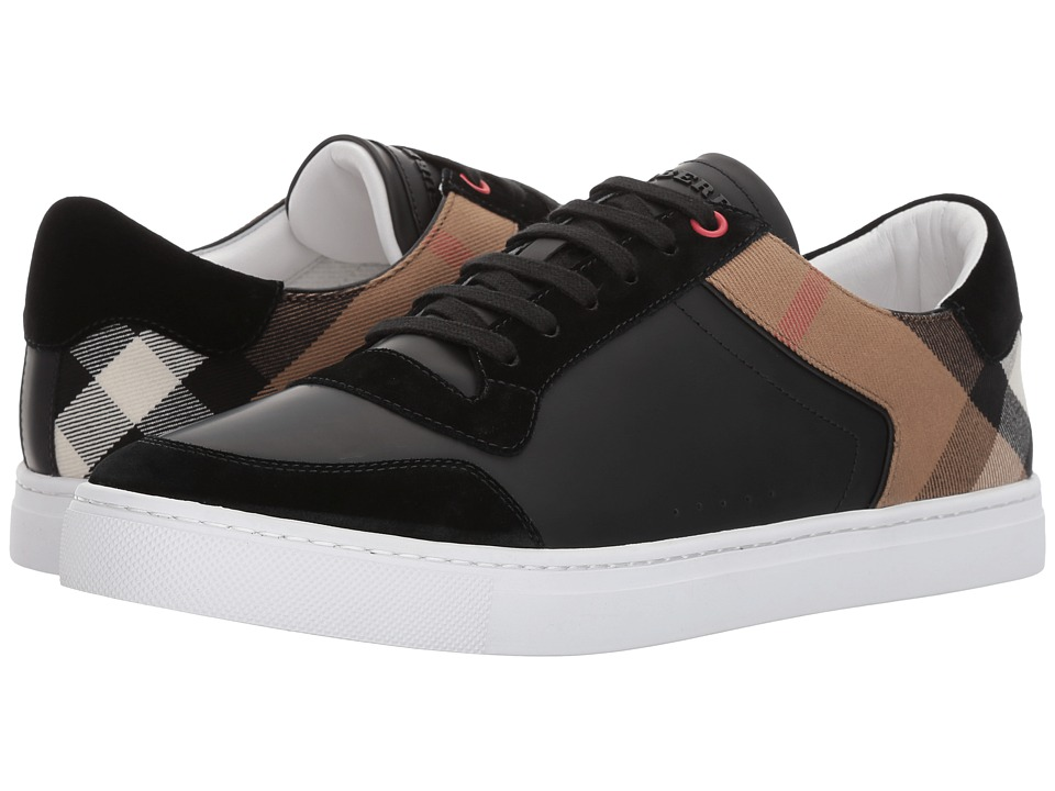 Burberrys Reeth House Check Low Top Sneaker (Black) Men's...