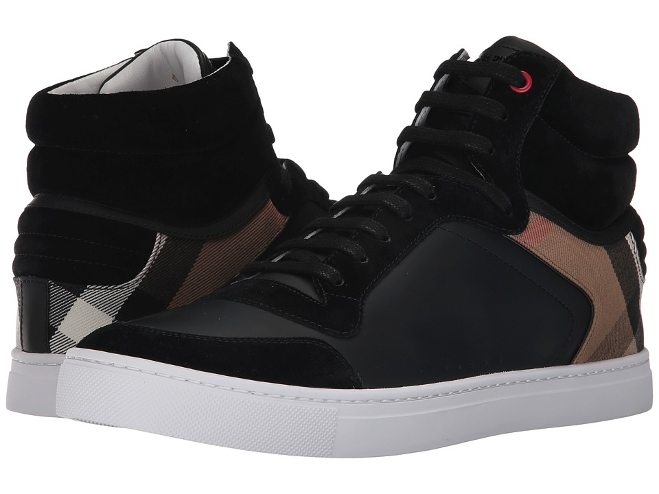 Burberrys Reeth House Check High Top Sneaker (Black) Men'...