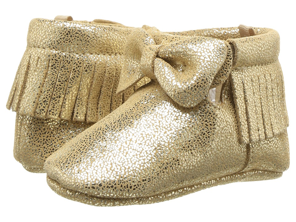 Baby Deer - Soft Sole Fringe Bootie with Bow