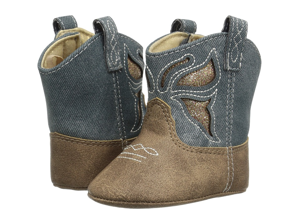 Baby Deer - Soft Sole Western Boot (Infant) (Denim) Girls Shoes