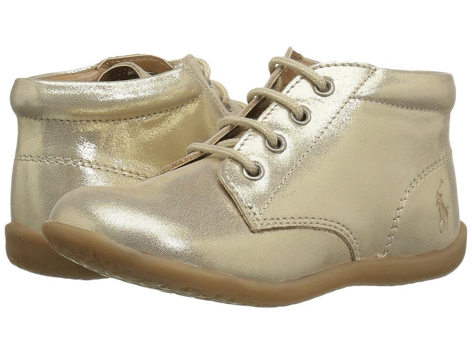 Polo Ralph Lauren Kids Kinley (Toddler) (Gold Shimmer) Girl's Shoes