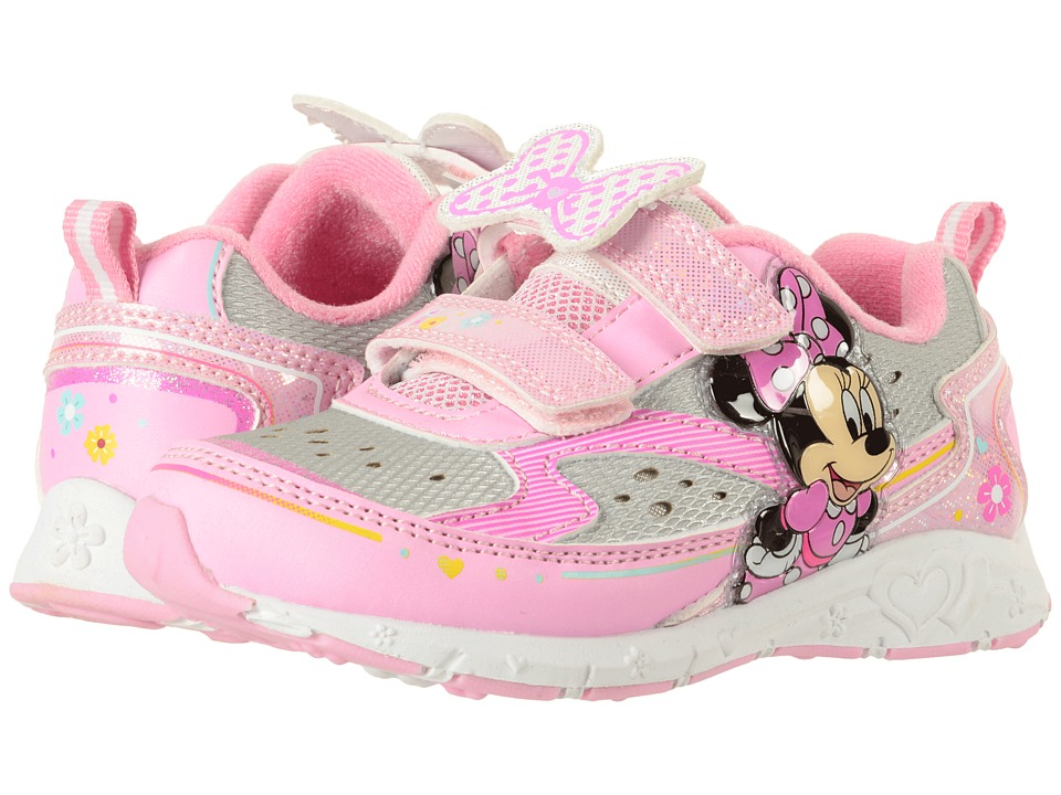 Josmo Kids Minnie Double HL Lighted Sneaker (Toddler/Little Kid) (White/Pink) Girl's Shoes