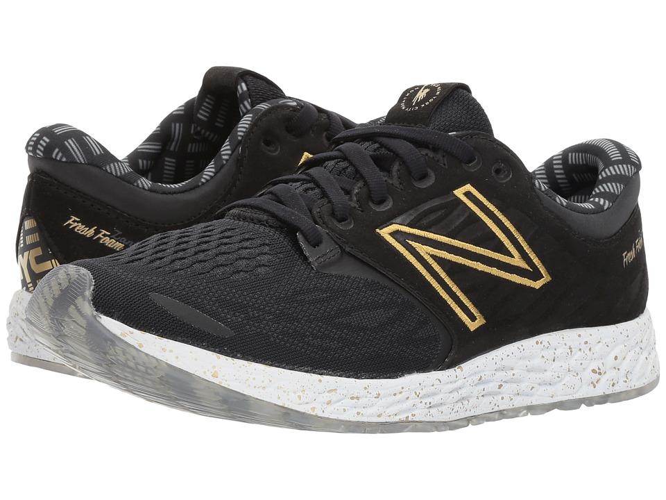 New Balance - NYC Fresh Foam Zante v3 (Black/Gold) Womens Running Shoes