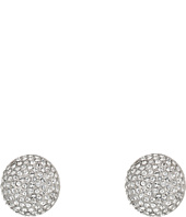 Nina - Pave Button Clip Earrings