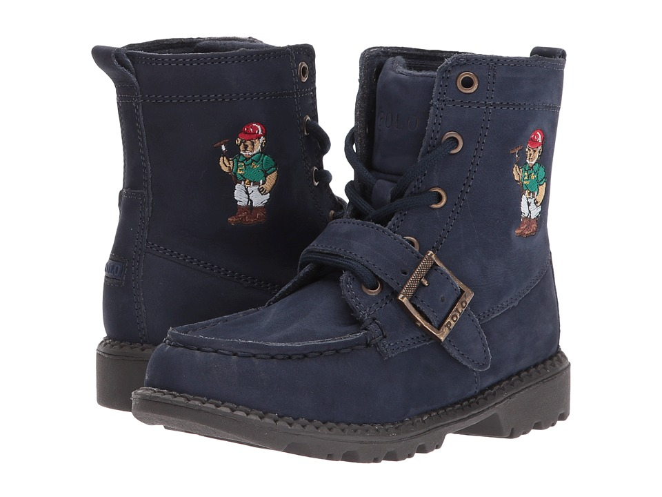 Polo Ralph Lauren Kids - Ranger Hi II (Toddler) (Navy Nubuck/Polo Sweater Bear) Boys Shoes