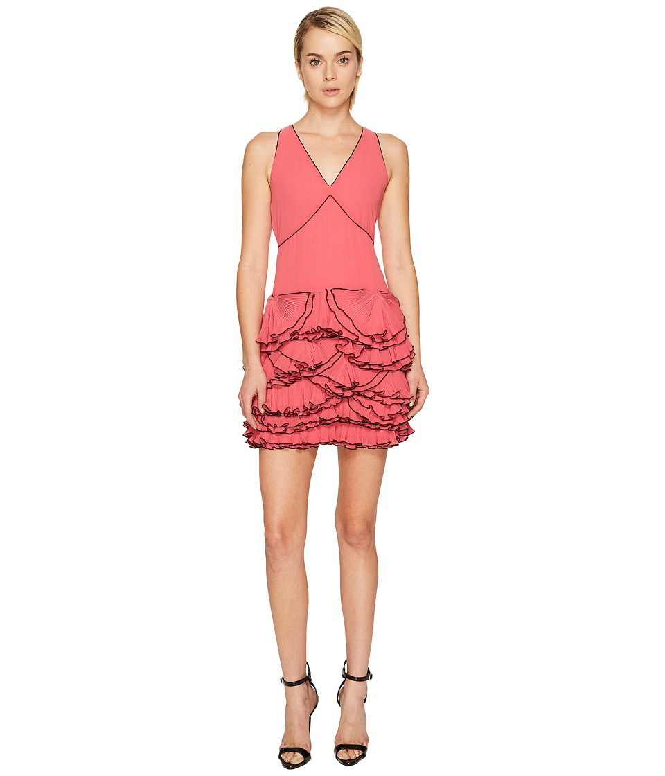 Boutique Moschino - Georgette Ruffle Dress (Pink) Womens Dress