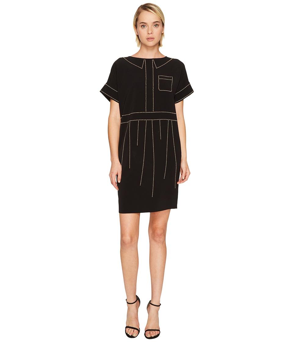 Boutique Moschino Crepe Studded Dress (Black) Women