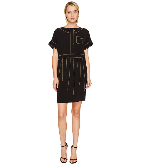 Boutique Moschino Crepe Studded Dress
