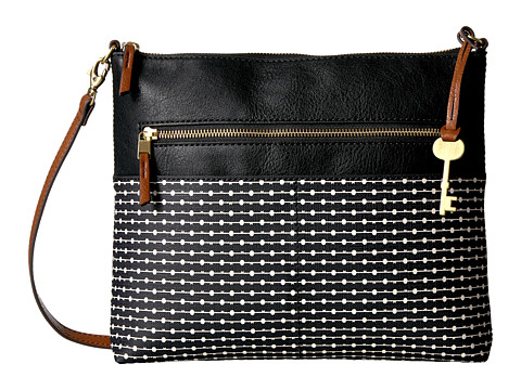 Fossil Fiona Large Crossbody - Black Stripe
