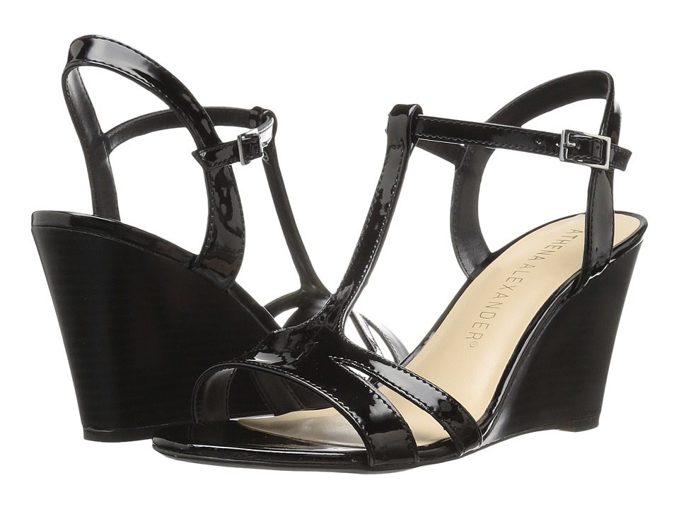 Athena Alexander Andres (Black Synthetic Leather) Women