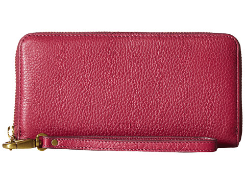 Fossil Emma Large Zip Clutch RFID - Raspberry Wine