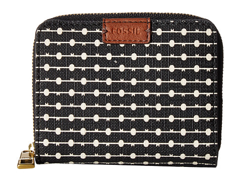 Fossil Emma Mini Multi Wallet RFID - Black Stripe