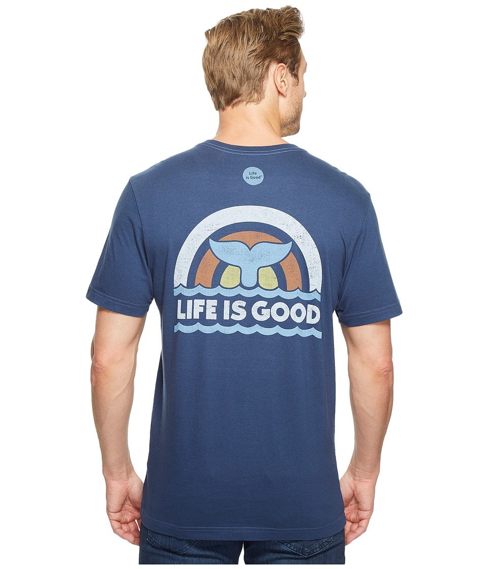 Life is Good Whale Tail Crusher Tee (Darkest Blue) Men