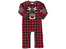 Mud Pie Buffalo Check Reindeer One-Piece (Infant)