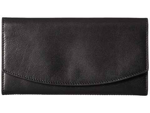 Skagen Continental Flap Wallet - Black