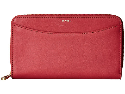 Skagen Compact Zip Wallet - Berry