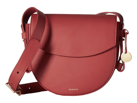 Skagen Lobelle Saddle Bag - Berry