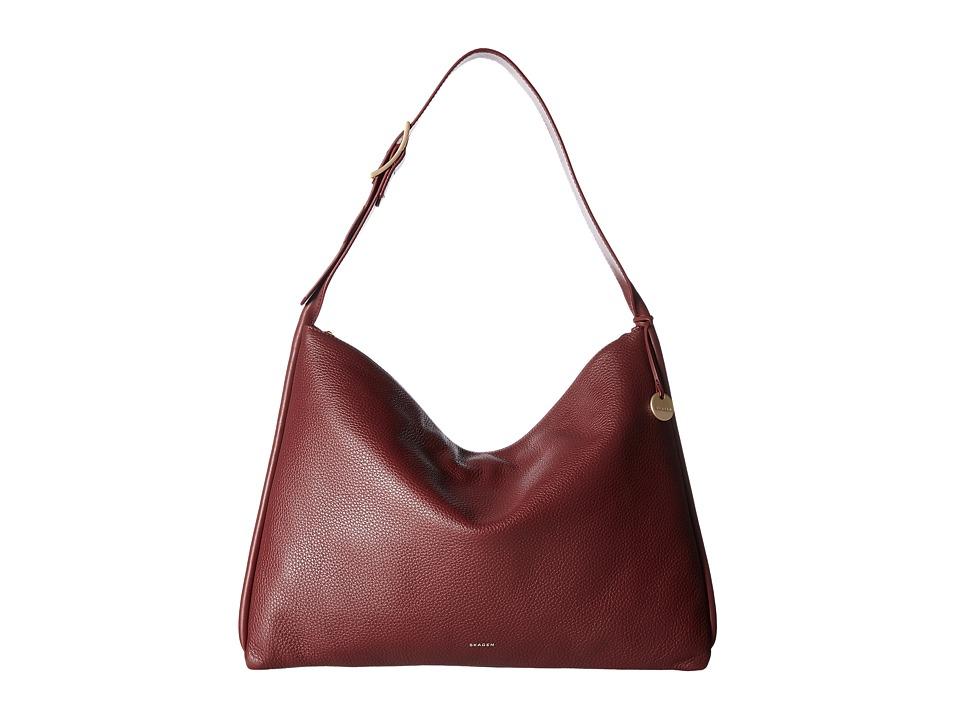 Skagen Anesa Shoulder Bag (Cordovan) Shoulder Handbags