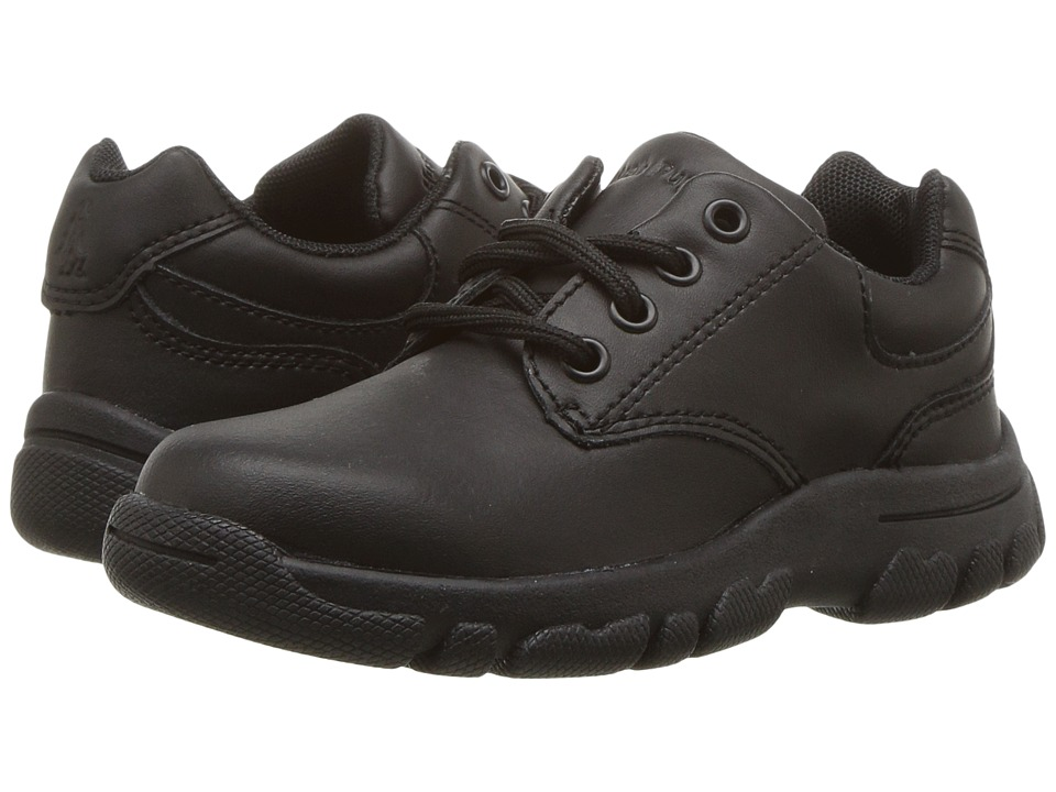 Hush Puppies Kids Chad (Toddler/Little Kid) (Black Leather) Boy's Shoes