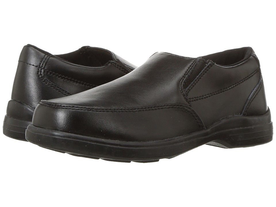 Hush Puppies Kids Shane (Little Kid/Big Kid) (Black Leather) Boy's Shoes