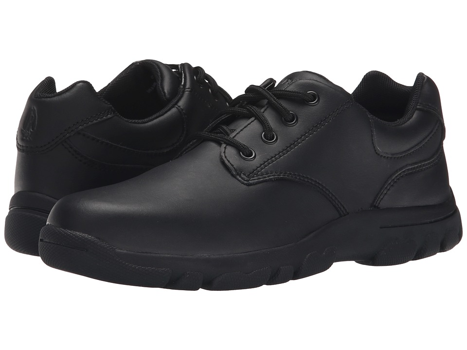 Hush Puppies Kids Chad (Little Kid/Big Kid) (Black Leather) Boy's Shoes