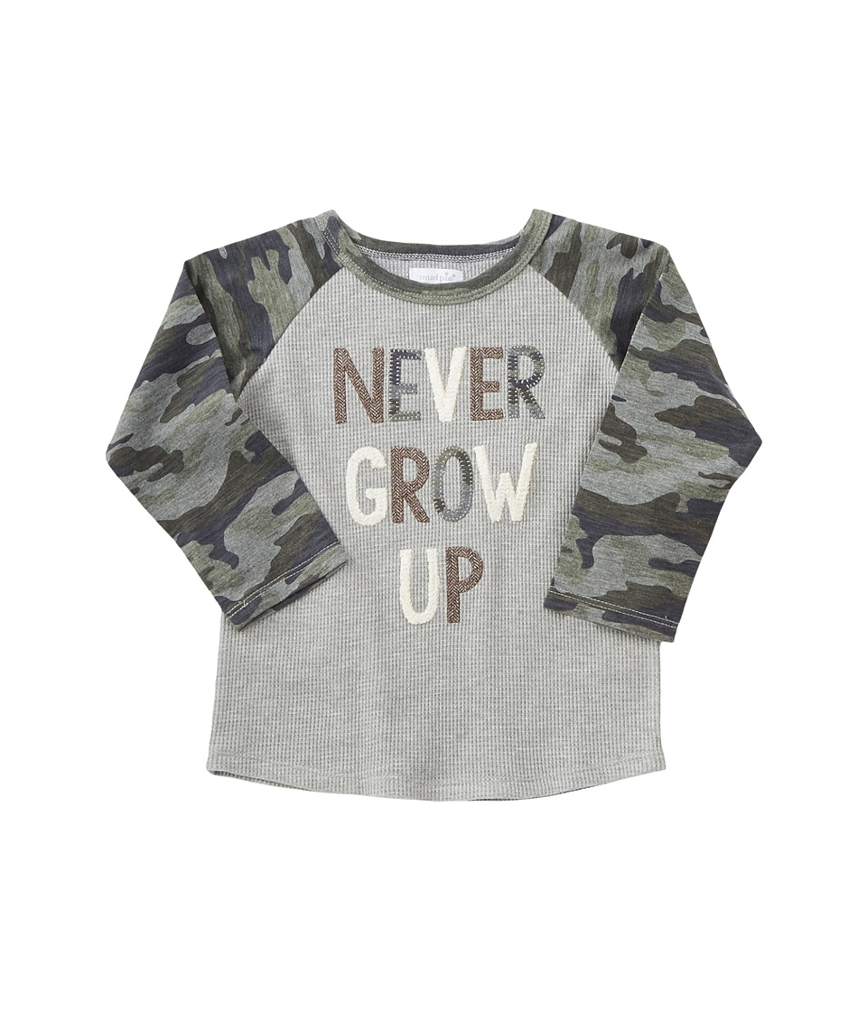 Mud Pie - Never Grow Up Long Sleeve Shirt (Infant/Toddler...