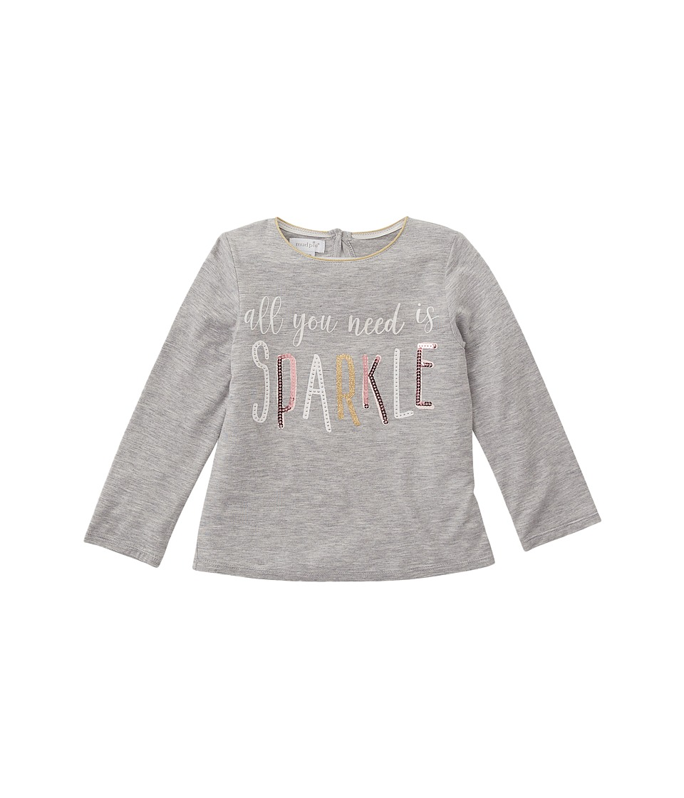 Mud Pie - Sparkle Long Sleeve Shirt (Infant/Toddler) (Gra...