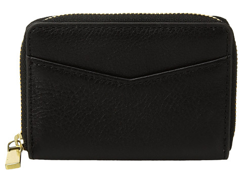 Fossil RFID Mini Zip Card Case - Black