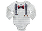 Mud Pie Long Sleeve Crawler with Bow Ties (Infant)