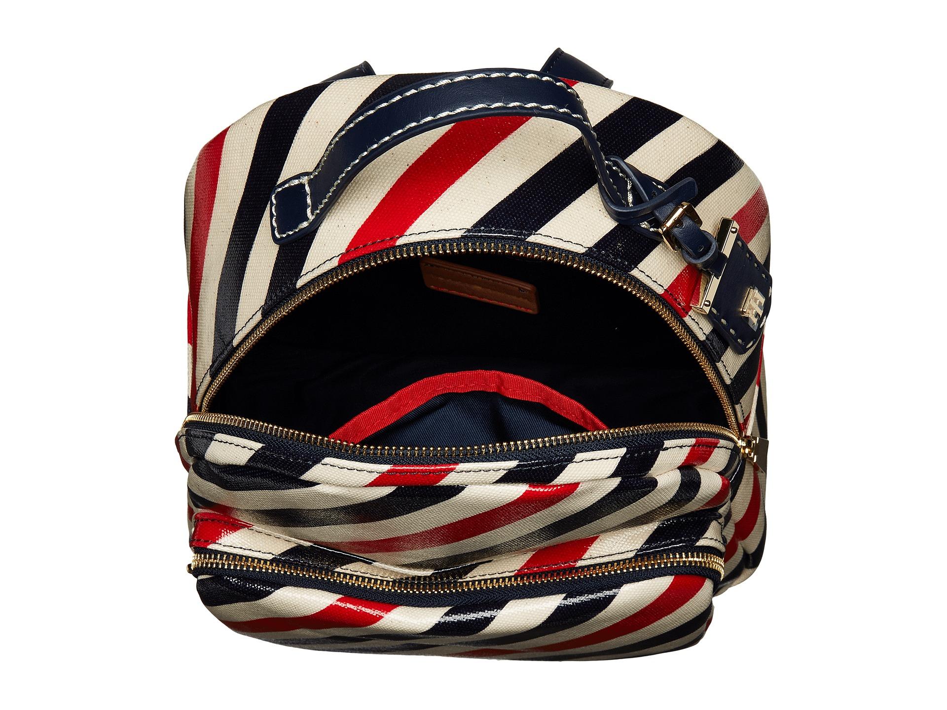 tommy hilfiger julia stripe backpack at. Black Bedroom Furniture Sets. Home Design Ideas