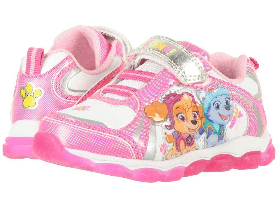 Josmo Kids Paw Patrol Lighted Sneaker (Toddler/Little Kid) (Pink) Girl's Shoes