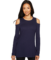 MICHAEL Michael Kors - Long Sleeve Cold Shoulder with Metal Detail