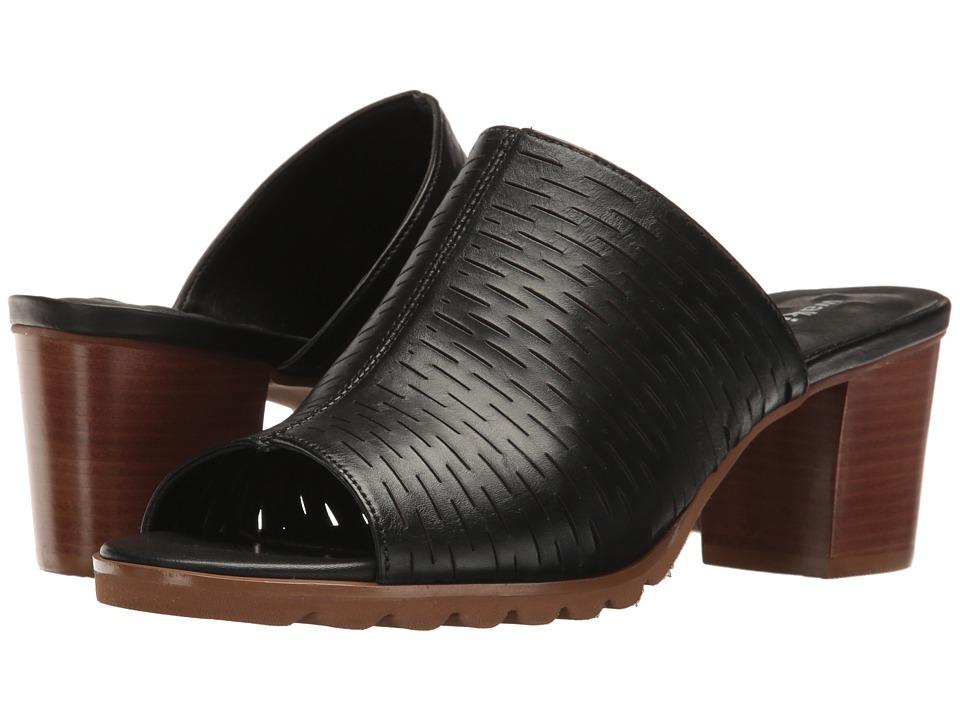 Walking Cradles Nia (Black Accordion Perf) 1-2 inch heel Shoes