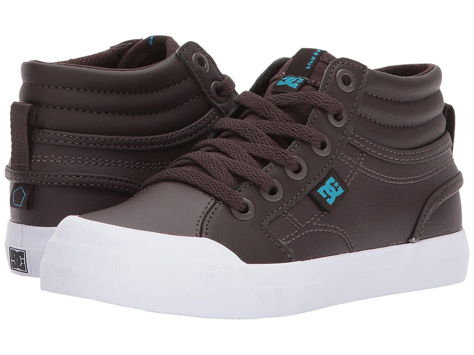 DC Kids Evan Hi SE (Little Kid/Big Kid) (Brown) Boys Shoes
