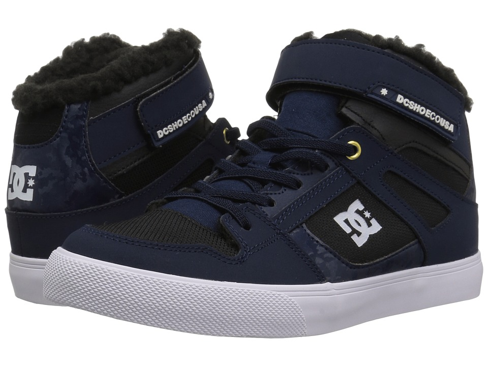 DC Kids Spartan High WNT EV (Little Kid/Big Kid) (Navy/Black) Boys Shoes