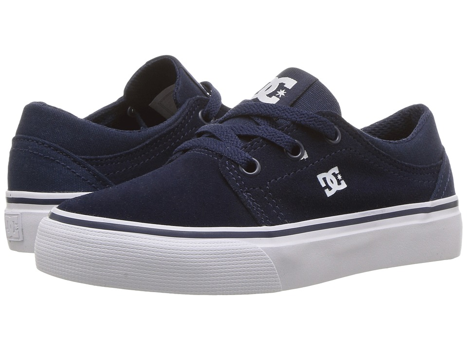 DC Kids Trase (Little Kid/Big Kid) (Navy) Boys Shoes