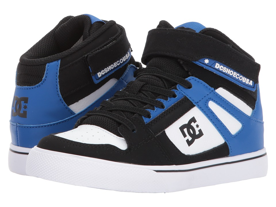 DC Kids Spartan High EV (Little Kid/Big Kid) (Black/White/Blue) Boys Shoes