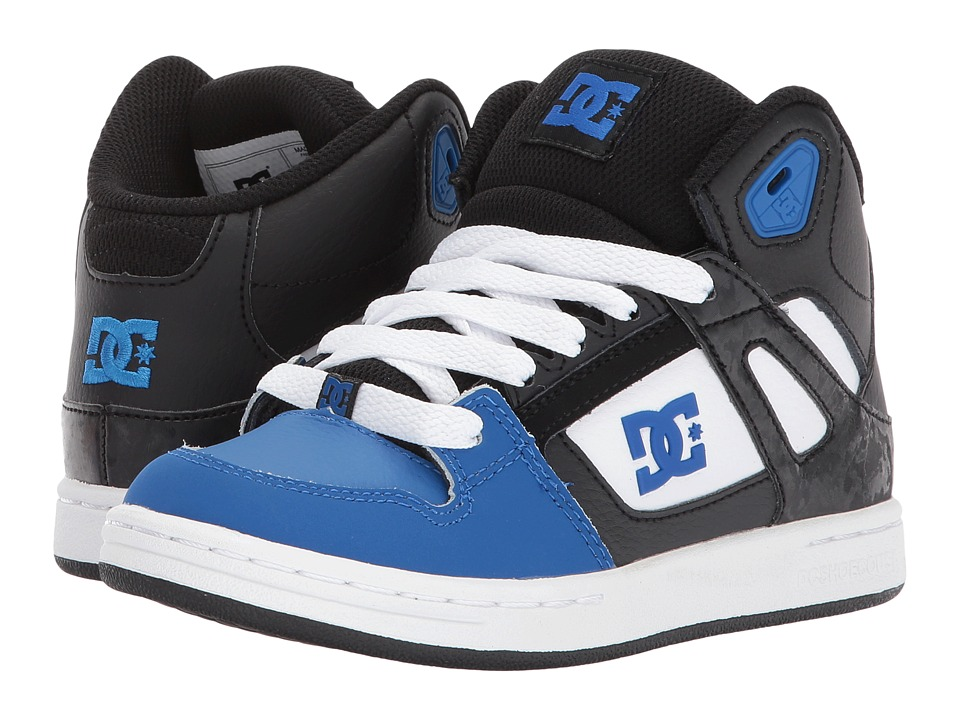 DC Kids - Rebound (Little Kid/Big Kid) (Black/Blue/White) Boys Shoes