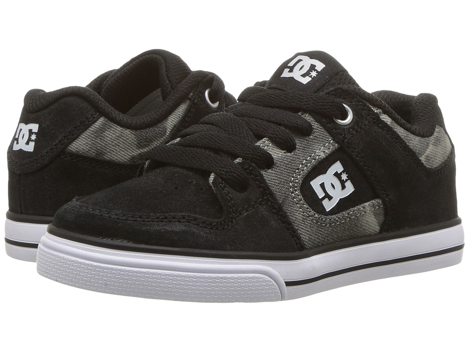 DC Kids Pure SE (Little Kid/Big Kid) (Black Print) Boys Shoes