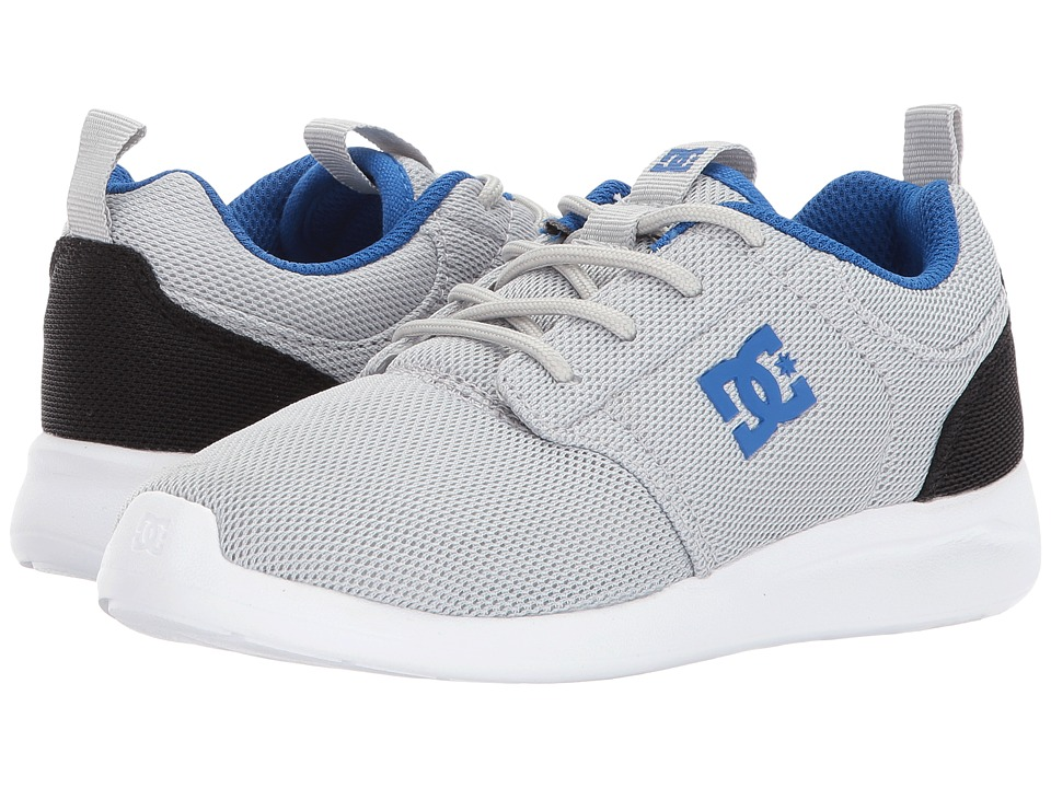 DC Kids Midway (Little Kid/Big Kid) (Grey/Blue/Black) Boys Shoes