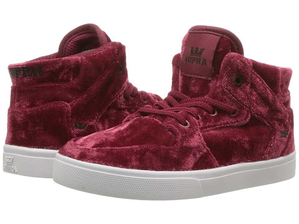 Supra Kids Vaider (Toddler) (Dark Ruby/White) Kids Shoes
