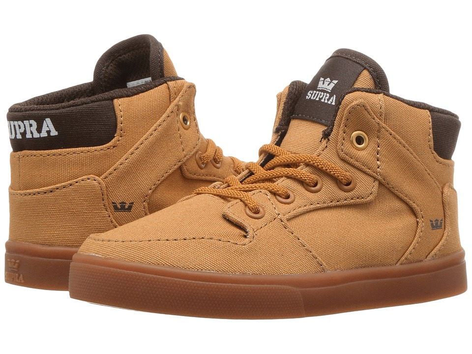 Supra Kids Vaider (Toddler) (Amber Gold/Gum) Boys Shoes