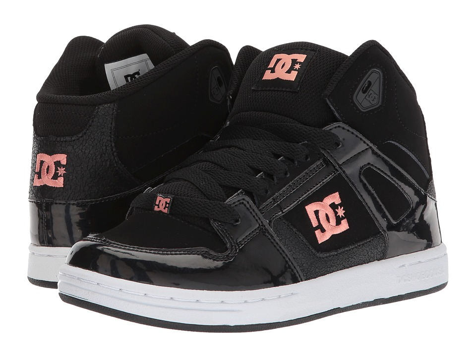 DC Kids Rebound SE Glow (Little Kid/Big Kid) (Black) Girls Shoes