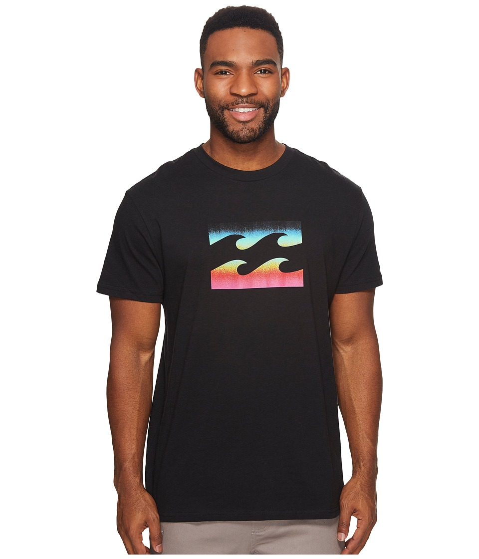 Billabong Team Wave Printed T-Shirt (Black 1) Men