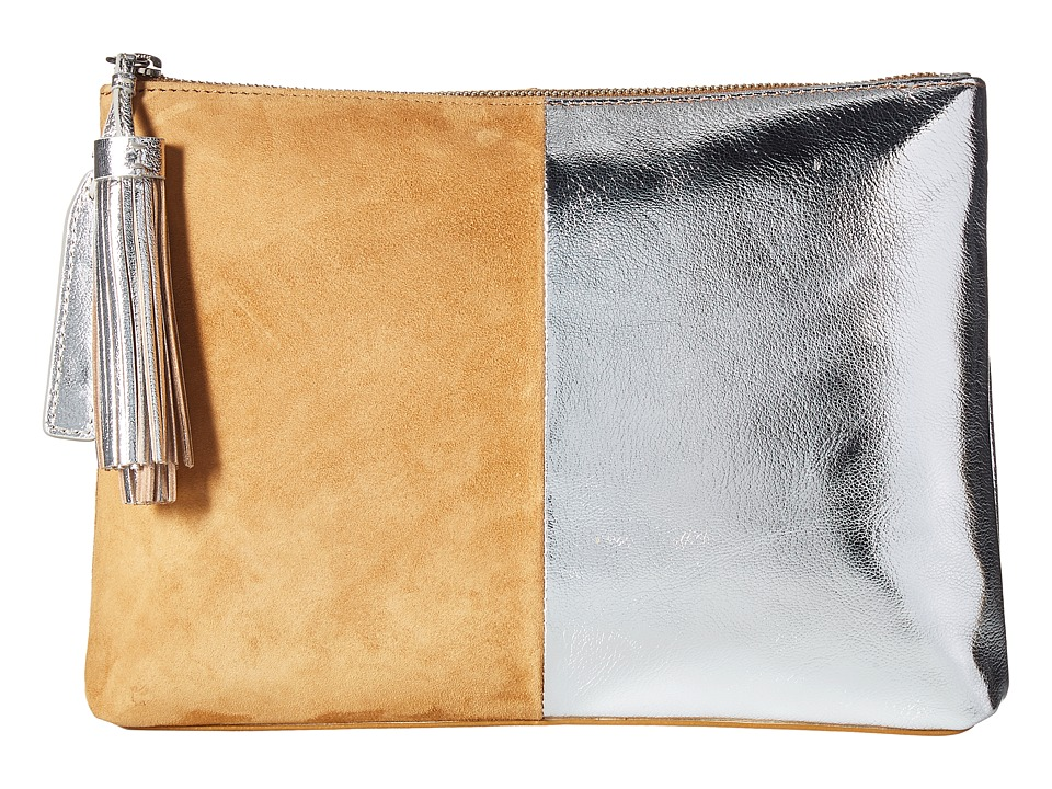 Loeffler Randall Tassel Pouch (Camel/Silver) Clutch Handbags