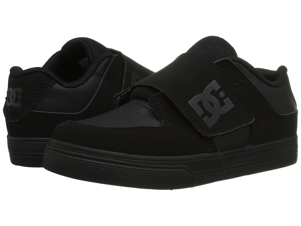 DC Kids Pure V II (Toddler) (Black/Black/Black) Boys Shoes