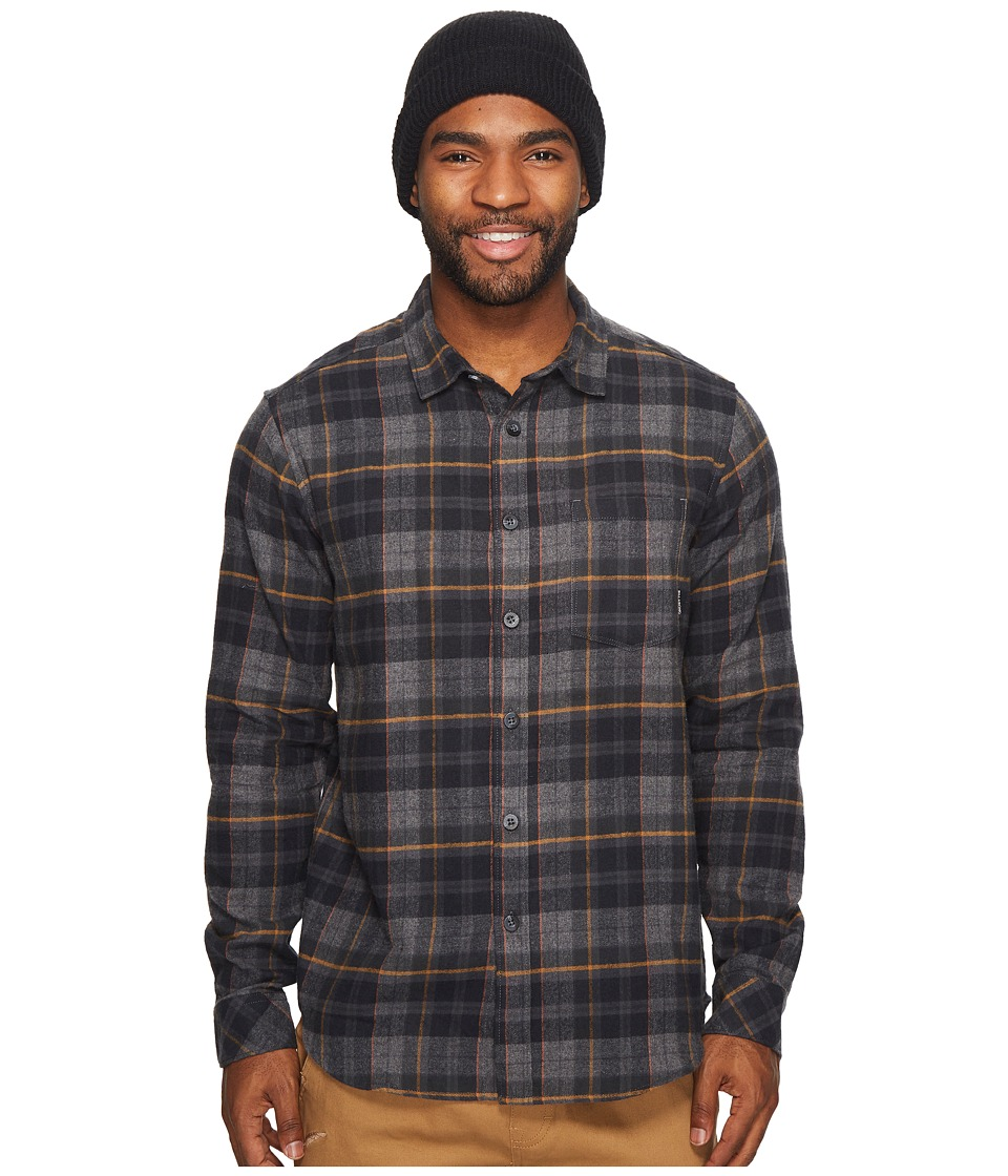 Billabong Coastline Flannel Long Sleeve Top (Black) Men