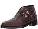 Toga Virilis Embossed Leather Western Buckle Boot