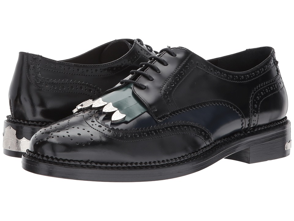 Toga Virilis - Polido Mix Leather Brogue (Black) Men's Sl...