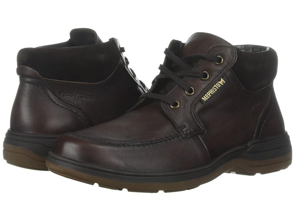 Mephisto - Darwin (Chestnut Riko/Dark Brown Suede) Mens  Boots